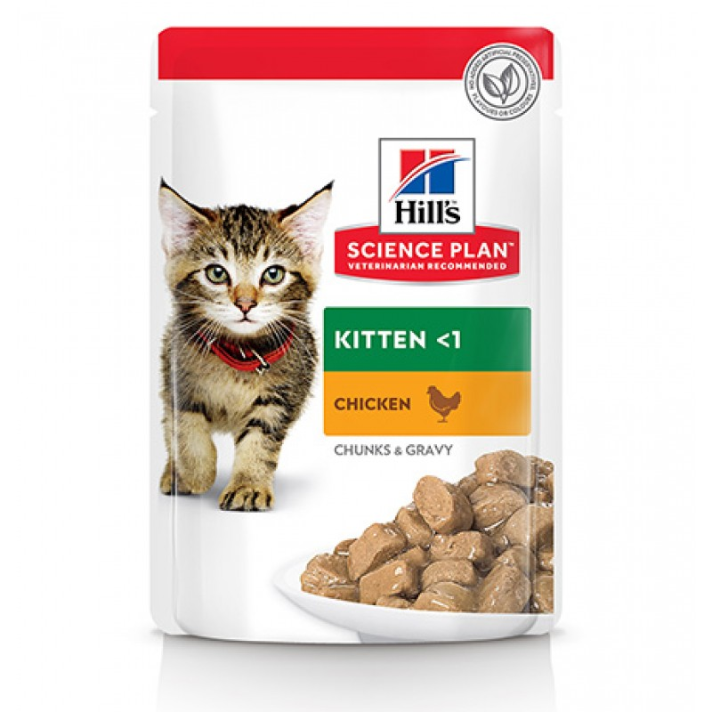 Hills Science Plan Kitten Chicken / Паучи Хиллс для Котят до 1 года Курица (цена за упаковку)